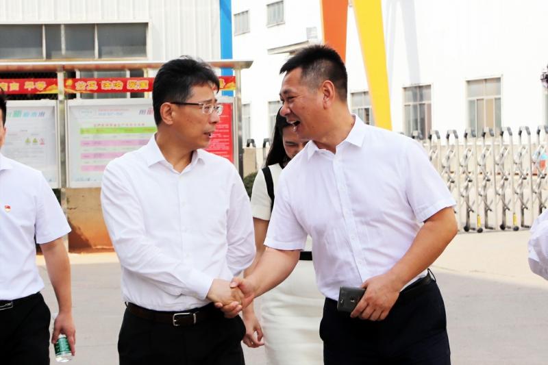 邮储银行副行长邵智宝一行莅临公司考察指导